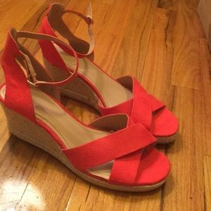H&M red/orange wedges